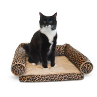 "K&H Lazy Lounger Leopard Cat Bed 14"" x 16"" x 5.5"" KH3347"