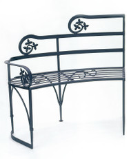 Achla Lutyen II Bench with Left Arm Rest Decorative Garden Bench AR-05L