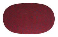 """Achla Minuteman 24"""" x 48"""" Braided Wool Rug Regal Oval Rug H-73"""