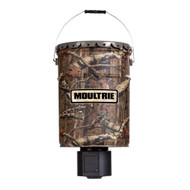 Moultrie 6.5 Gallon Quiet Turkey Scratch Game Hunter Feeder MTMFG12653