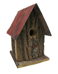 Bird-N-Hand Distressed Wood The Bird Cabin Birdhouse Decorative Bird House SM21
