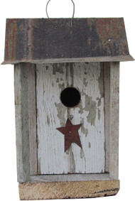 Bird-N-Hand Distressed Wood The Shanty Birdhouse Decorative Bird House SM13