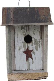 Bird-N-Hand Distressed Wood The Shanty Birdhouse Decorative Bird House SM13