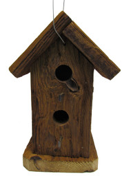 Bird-N-Hand Natural Wood 2 Story Birdhouse Decorative Bird House RBH32