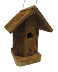 Bird-N-Hand Natural Wood Round Birdhouse Decorative Bird House RBH41