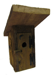 Bird-N-Hand Natural Wood The Outhouse Birdhouse Decorative Bird House BH8