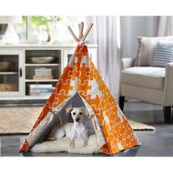 Merry Pet Cat Dog Pet Orange Puzzle Large Teepee PTP0040203200
