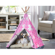 Merry Pet Cat Dog Pet Pink Puzzle Medium Teepee PTP0050203100
