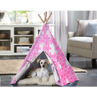Merry Pet Cat Dog Pet Pink Puzzle Large Teepee PTP0060203100