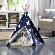 Merry Pet Cat Dog Pet Blue with White Stars Medium Teepee PTP0070203000