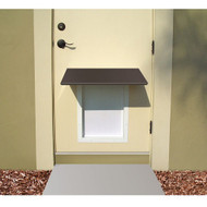 PlexiDor Performance Pet Door Dog Door AWNING SMALL BR BRONZE
