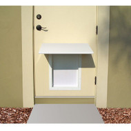 PlexiDor Performance Pet Door Dog Door AWNING MEDIUM WH WHITE
