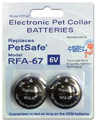 High Tech Pet HT-RFA67-2 Replacement Battery Replaces PetSafe RFA-67D-11 Battery Replaces RFA-67 (HT-RFA67-2)