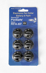 High Tech Pet HT-RFA67-2 Replacement Battery 6 Pack Replaces PetSafe RFA-67D-11 Battery Replaces RFA-67 (HT-RFA67-6)