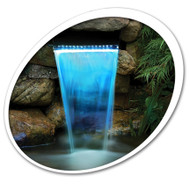 "Tetra Pond Waterfall Filter 12"" With LED Colorchanging Light With Remote 19765 (26596 + 19765)"