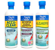 API Pond Care Bundle AccuClear EcoFix & AlgaeFix 16 oz. Containers 142B 147B 169B