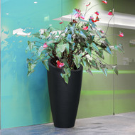 Mayne Modesto 42 inch Tall Planter Black 8881-B