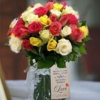 Bunch Of Mixed Roses 12