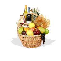 Fruit, Cheese, White Wine And Red Wine Hamper