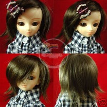 Natural Black/Dark Brown Wild Hair 7-8 Wig for MSD BJD Dollfie Ellowyne Wilde Dolls