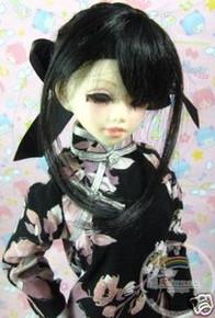 Unoa/Narae Dollfie Black Back Braids 6-7 Wig #6020-1B
