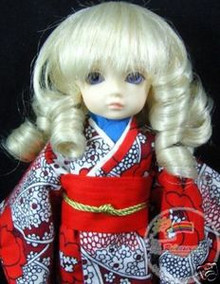 Unoa Yo-SD Dollfie Light Blonde Curl 6-7 Wig #6010-613