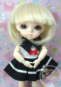 "Blond Bob 5.5"" Wig  for Lati Yellow Pukifee BJD Dollfie 16"" Tonner Tyler #8015-613"