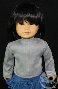"18"" American Girl Doll Outfit Turtleneck Top Grey"