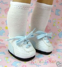 American Girl Doll Shoes W/Pale Blue Mesh Sneakers #S24