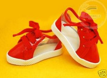 Dollfie MSD Unoa Shoes Clear/Patent Sneakers Red