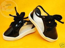 Dollfie MSD Unoa Shoes Clear/Patent Sneakers Black