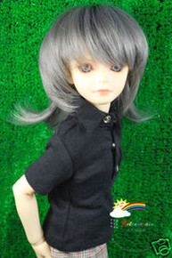 Royal Grey 7-8 Heat Resistance Wig #D4178N for MSD BJD Dollfie Ellowyne Wilde Dolls