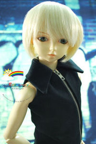 Dollfie SD Blond Short 8-9 Heat Resistant Wig #D3233
