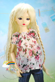 Dollfie SD Blond Braids 8-9 Heat Resistant Wig #D3200