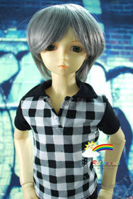 Dollfie SD Grey Short 8-9 Heat Resistant Wig #D3046