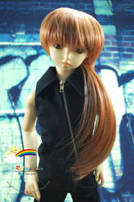 Dollfie SD Brown Tail 8-9 Heat Resistant Wig #D3179