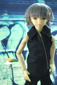 Dollfie SD Grey Short 8-9 Heat Resistant Wig #D3252