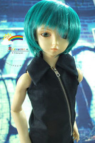 Dollfie SD Emerald Green 8-9 Heat Resistant Wig #D3233