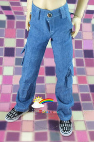 SD13 Boy Dollfie Outfit Blue Denim Cargo Jeans Pants