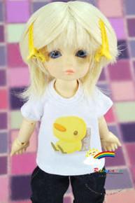 Dollfie Yo-SD/Unoa Blond 6-7 Heat Resistant Wig #D6113