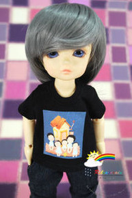Dollfie Yo-SD Outfit Black Short-Sleeve Tee Family