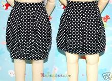 Black/W Polka Dots Bubble Skirt for Yo-SD Size BJD Dollfie Dolls