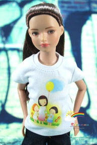 "12"" Tonner Marley Doll Outfit White T-Shirt Mum Balloon"