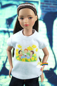 "12"" Tonner Marley Doll Outfit White T-Shirt Picnic"