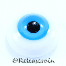 BJD Dollfie Doll Glass Eyes Caribbean Blue 18mm #PP08