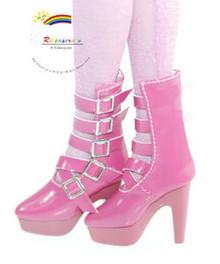 "16"" Tonner Tyler/Ellowyne Shoes 5-Strap Boots Pt Rose"