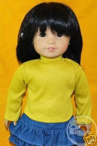 "18"" American Girl Doll Outfit Turtleneck Top Yellow"
