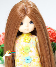 "Heat Resistant 5-6 Wig Brown for Lati Yellow Pukifee BJD Dollfie 16"" Tonner Tyler #D8034"