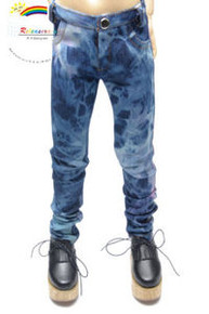Dollfie SD13 Boy Mosaic Tie-Dye Washed Skinny Jeans