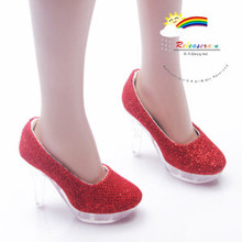 """Clear Pumps Shoes Red for 22"""" Tonner American Model"""
